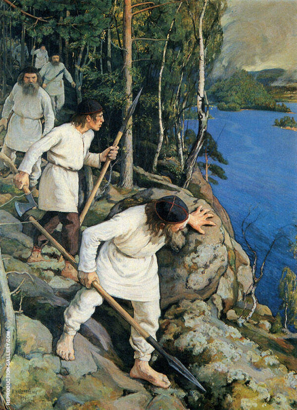 Against The Martyr 1896 By Pekka Halonen