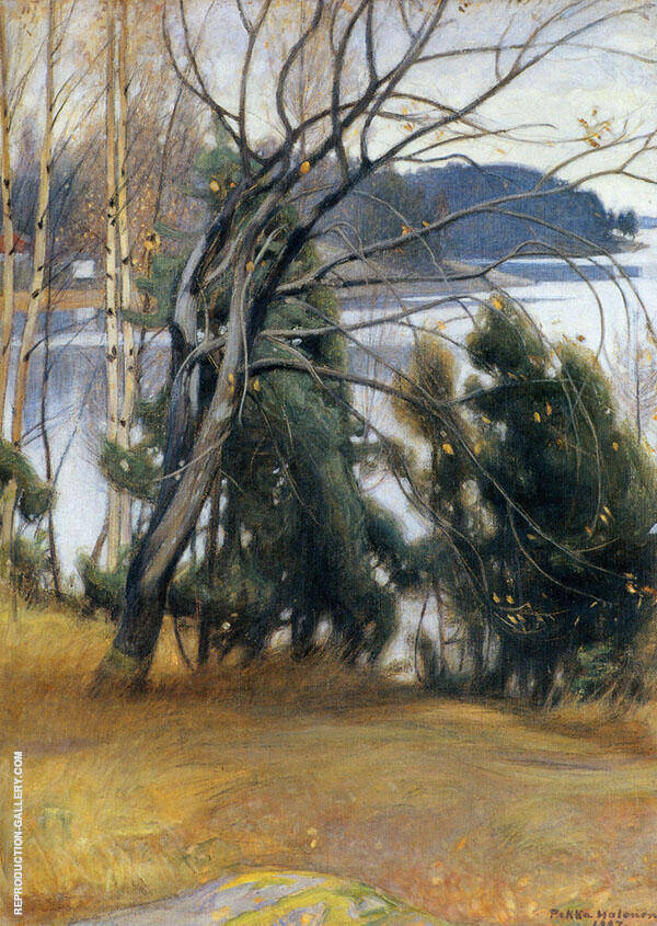 Autumn Track 1907 By Pekka Halonen