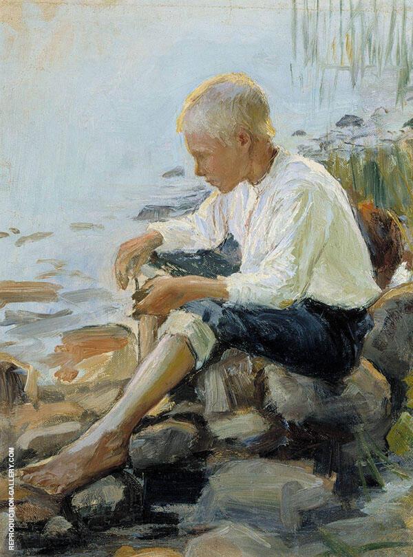 Boy on The Shore By Pekka Halonen