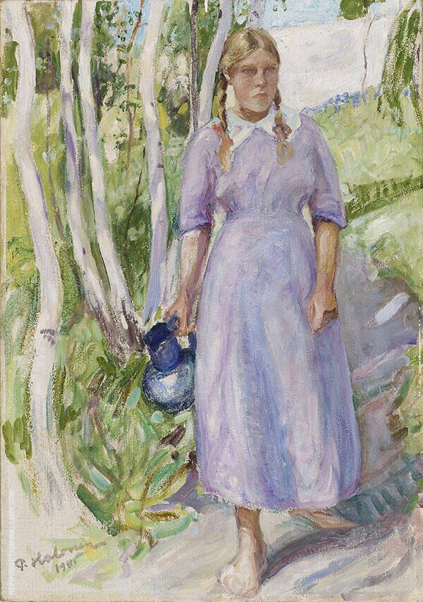 Carrying Water 1911 By Pekka Halonen