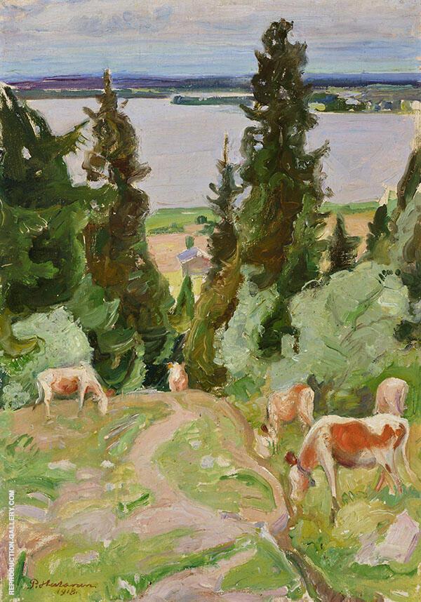 Cows in Vaisalanmaki By Pekka Halonen