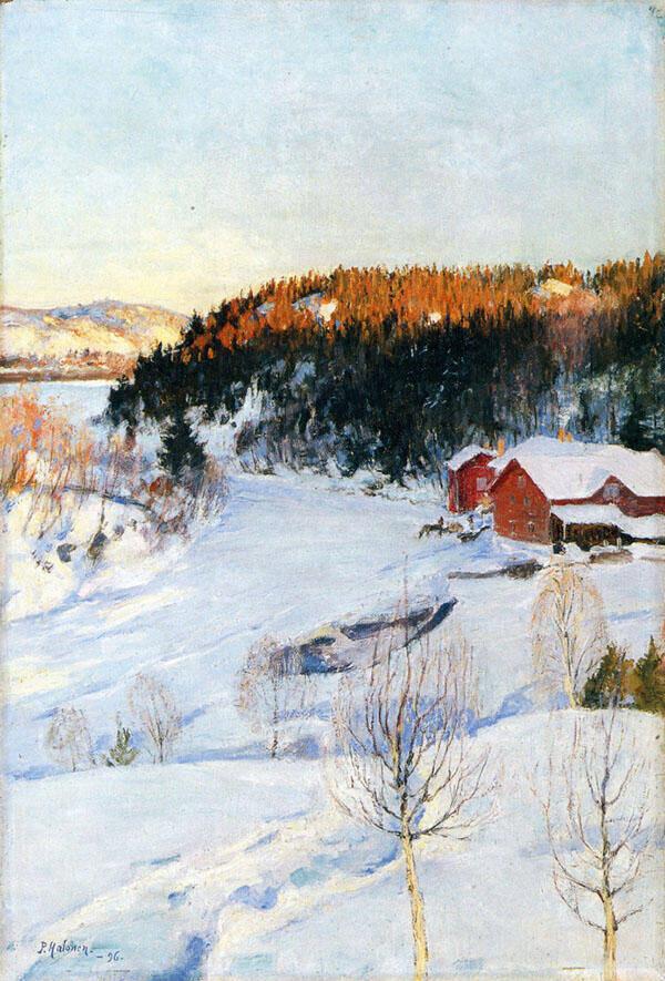 Evening 1896 By Pekka Halonen