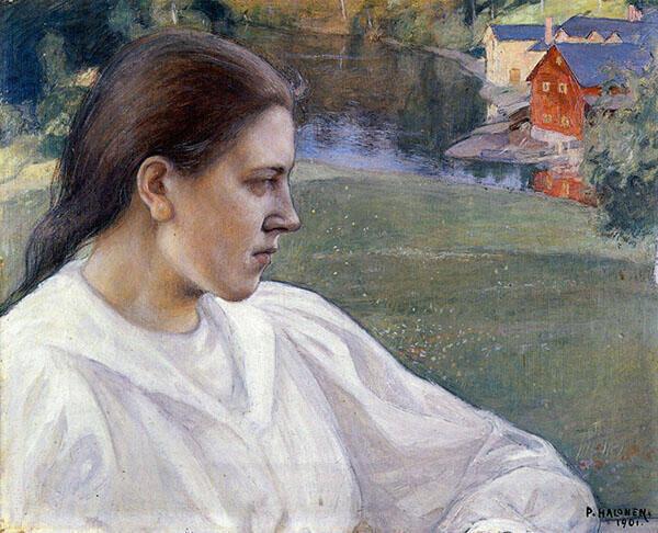Girl on The Beach Aino Makinen 1901 By Pekka Halonen