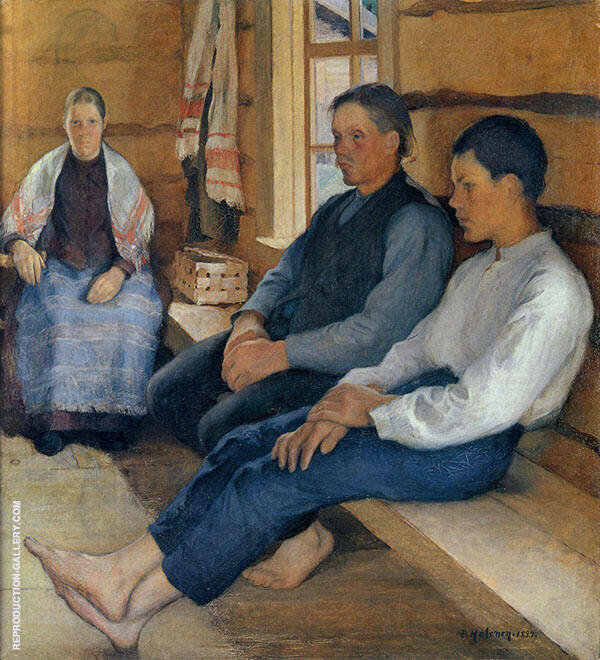 Holiday in The New House 1894 By Pekka Halonen