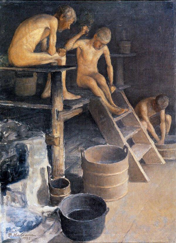 In The Sauna 1915 By Pekka Halonen
