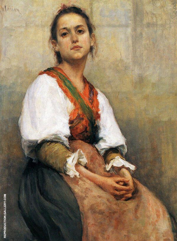 Italian Girl 1894 By Pekka Halonen