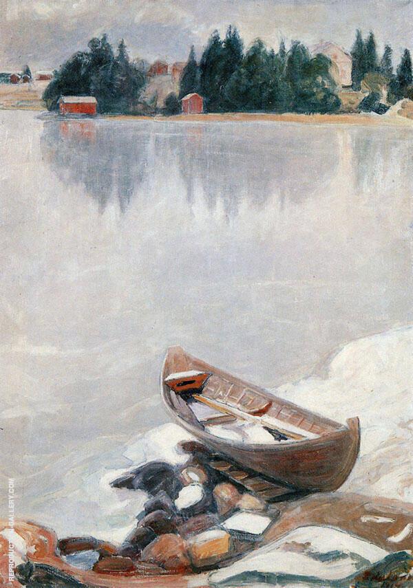 Lake Tuusulan Freezes 1914 By Pekka Halonen