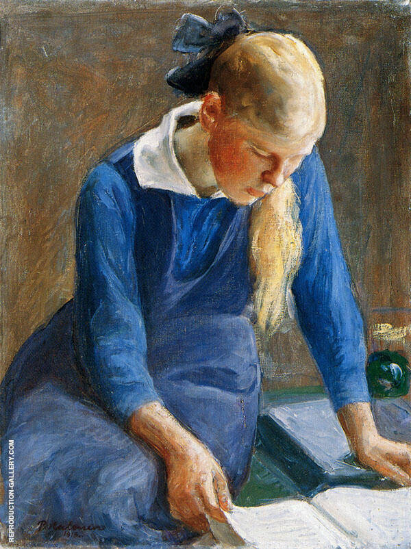 Reading Girl 1918 By Pekka Halonen