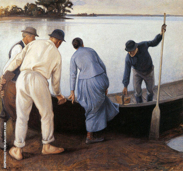 Returning to Work 1907 By Pekka Halonen