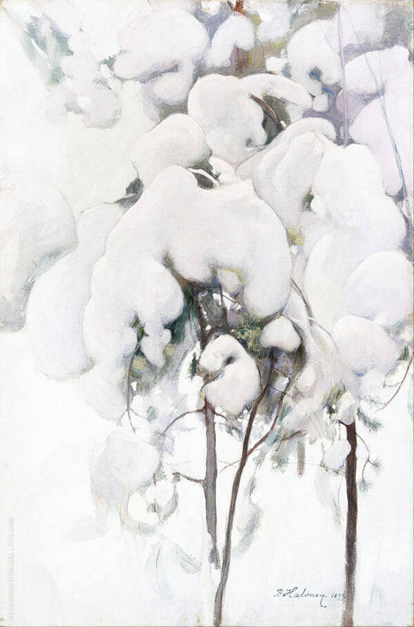 Snow Covered Pine Saplings 1899 By Pekka Halonen
