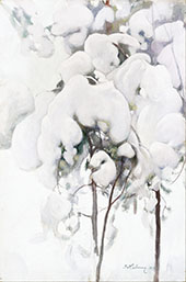 Snow Covered Pine Saplings 1899 By Pekka Halonen