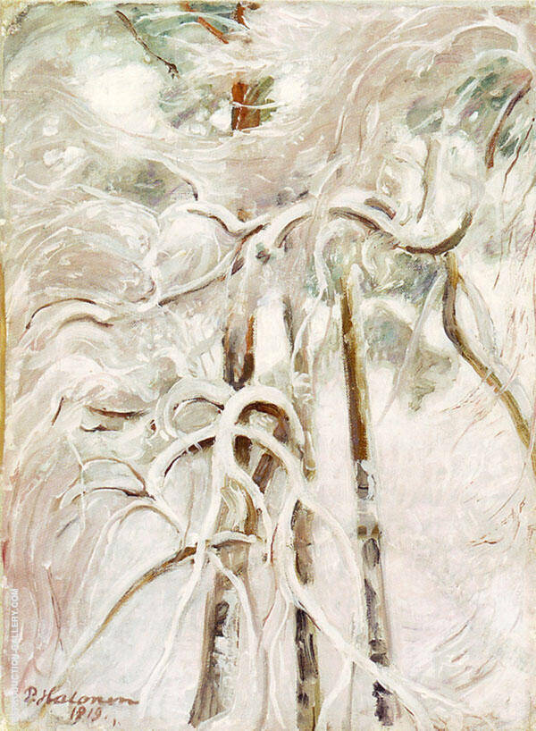 Snowy Pine 1919 By Pekka Halonen