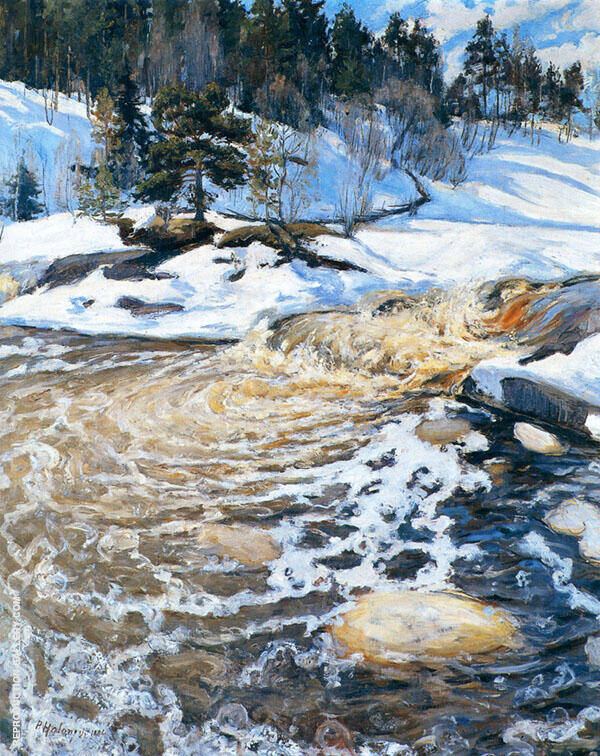 Spring Flood 1895 By Pekka Halonen