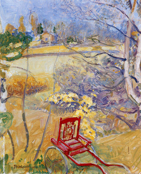 Stroller in The Garden 1913 By Pekka Halonen