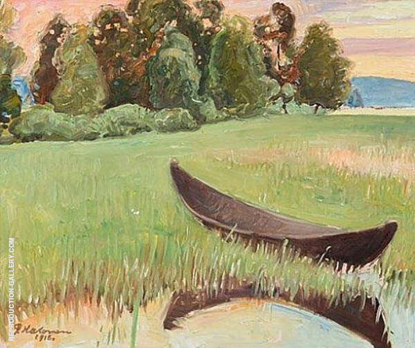 Summer Evening By The Shore 1918 By Pekka Halonen