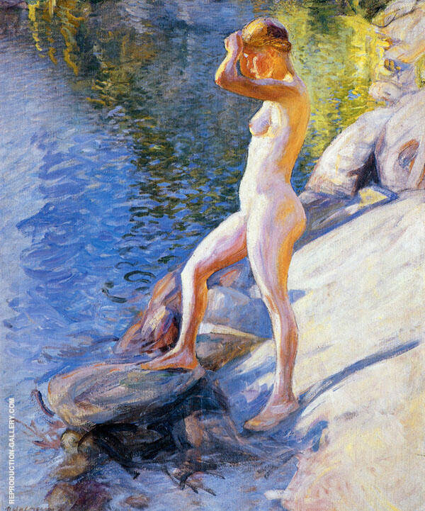 Swimming 1910 By Pekka Halonen