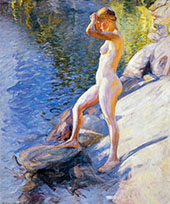Swimming 1910 By Pekka Halonen