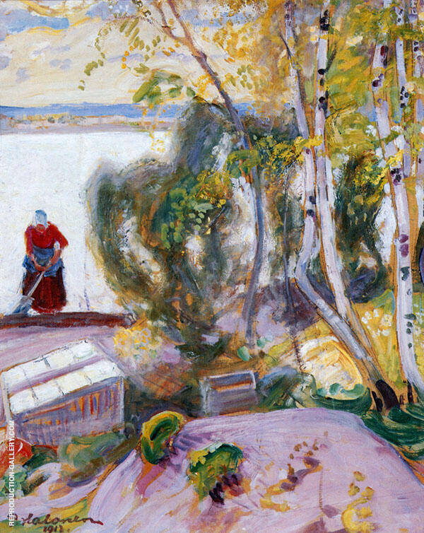 The Garden 1913 By Pekka Halonen