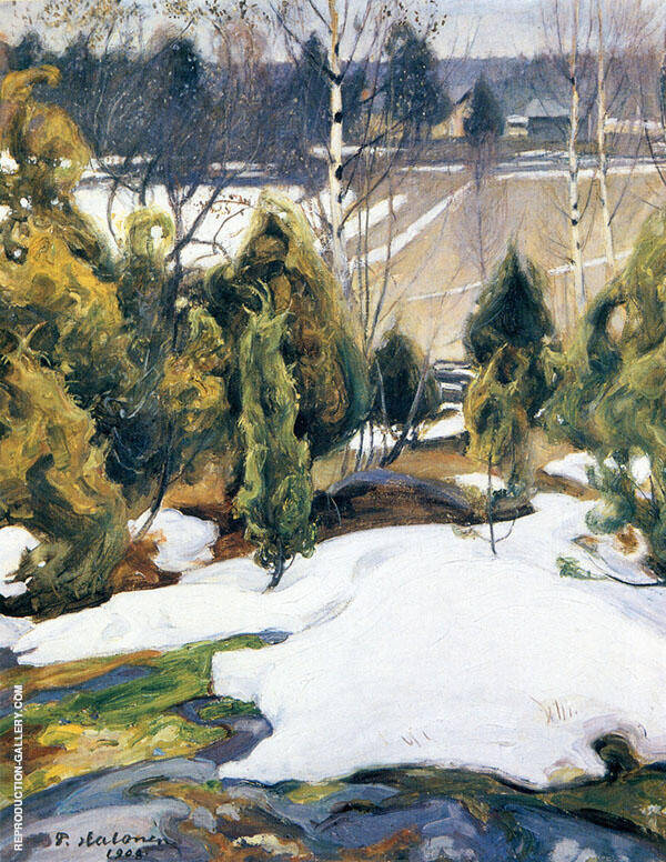 The Last Snow 1908 By Pekka Halonen
