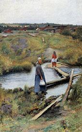 The Short Cut 1892 By Pekka Halonen