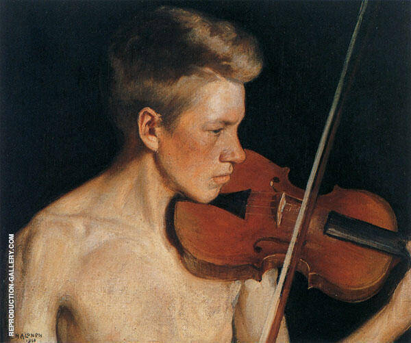 The Violinist 1900 By Pekka Halonen