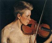 The Violinist 1900 By Pekka Halonen