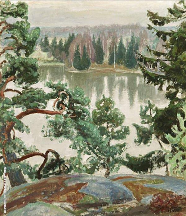 Tuusula Sarvikallio Cliffs 1916 By Pekka Halonen