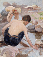 Two Boys on The Shore By Pekka Halonen