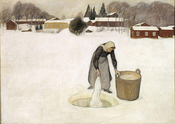 Washing on The Ice 1900 By Pekka Halonen