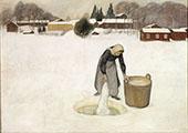 Washing on The Ice 1900 By Pekka Halonen