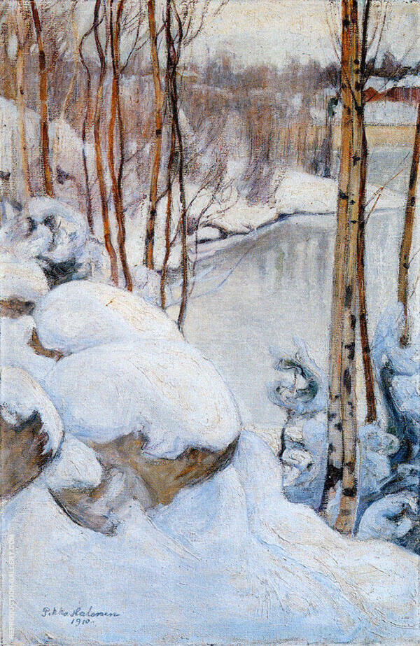Winter 1910 By Pekka Halonen