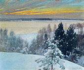 Winter Evening 1899 By Pekka Halonen
