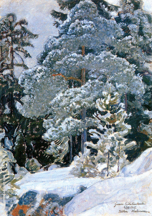 Winter Forest 1915 By Pekka Halonen