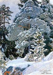 Winter Forest 1915 By Pekka Halonen