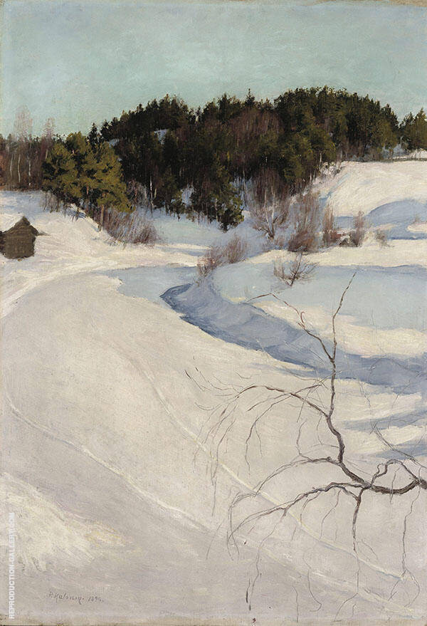 Winter Landscape 1896 By Pekka Halonen