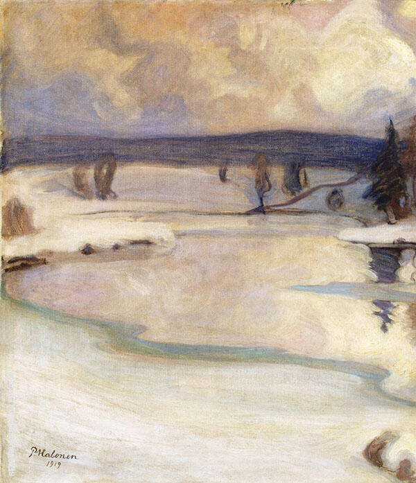 Winter Landscape 1919 By Pekka Halonen