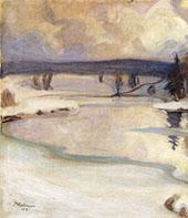 Winter Landscape 1919 By Pekka Halonen