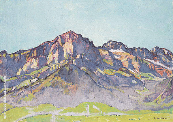 Dents Blanches near Champer in The Morning Sun 1916 By Ferdinand Hodler