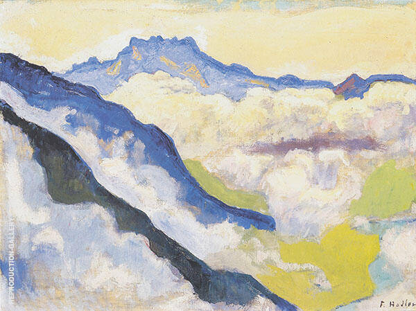 Dents du Midi from Caux 1917 By Ferdinand Hodler