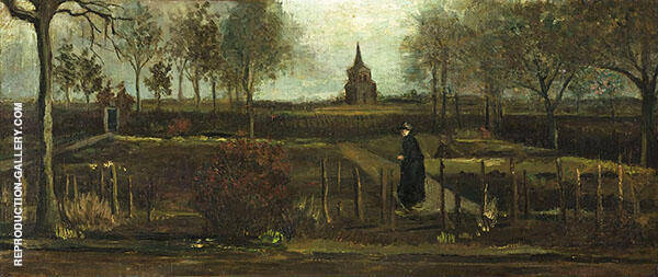 The Parsonage Garden at Nuenen 1884 By Vincent van Gogh