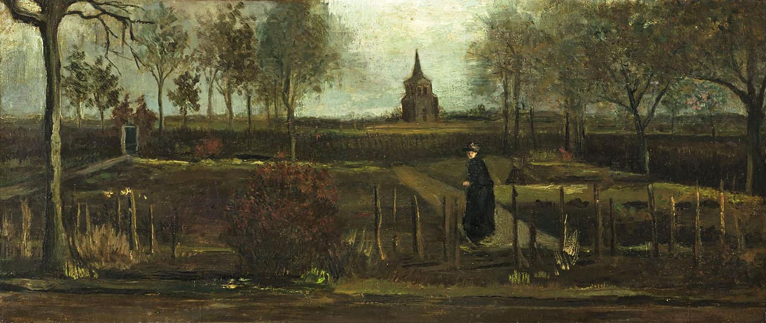 The Parsonage Garden at Nuenen 1884 By Vincent van Gogh