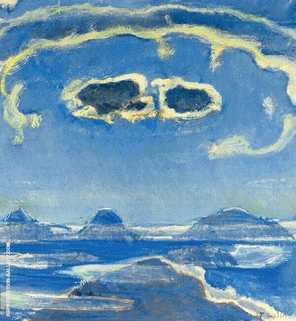 Eiger Monch and Jungfrau in Moonlight 1908 By Ferdinand Hodler