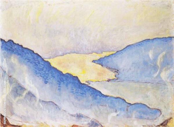 Evening Mist on Lake Thun 1908 By Ferdinand Hodler