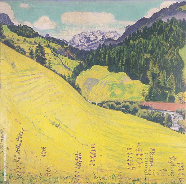 Kiental with Blumlisalp By Ferdinand Hodler