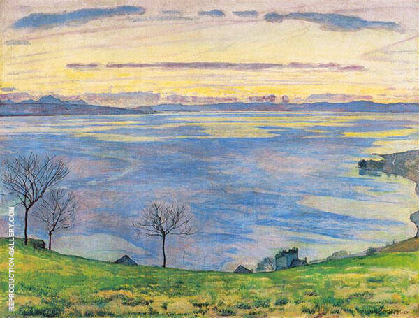 Lake Geneva in The Evening from Chexbres 1895 By Ferdinand Hodler