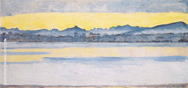 Lake Geneva with Mont Blanc at Dawn 1918 By Ferdinand Hodler