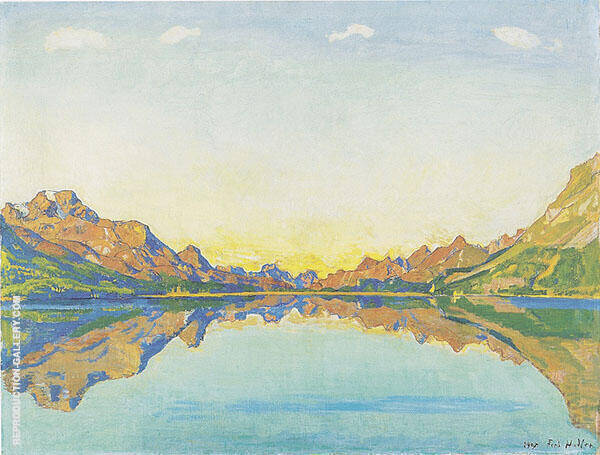 Lake Silvaplana in Fall 1907 By Ferdinand Hodler