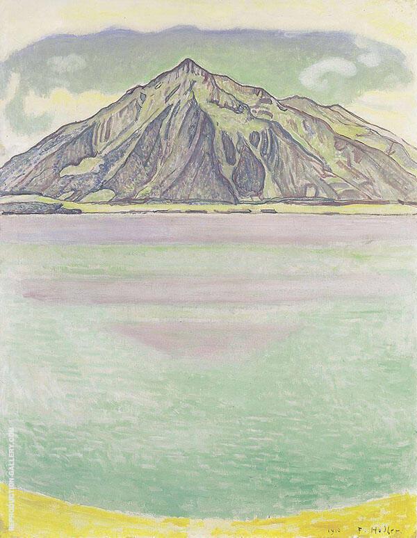 Lake Thun with Niesen 1910 By Ferdinand Hodler