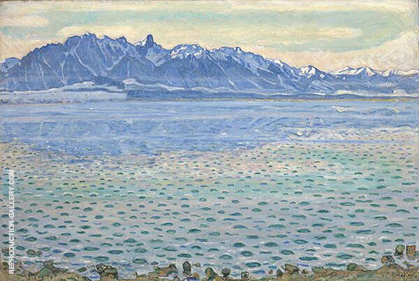 Lake Thun with Stockhorn Range 1904 By Ferdinand Hodler