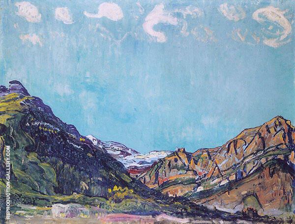 Landscape near Champery 1913 By Ferdinand Hodler